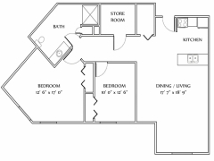 2 Bedroom Style E